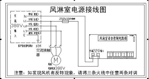 风淋室控制接线路图